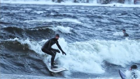 Surf på insjö i fjällen?
